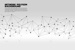 Предпосылка полигона точки сети соединяясь: Концепция сети, дела, соединяясь, молекулы, данных, химиката Стоковые Изображения