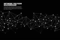 Предпосылка полигона точки сети соединяясь: Концепция сети, дела, соединяясь, молекулы, данных, химиката Стоковые Фото