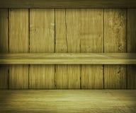 Предпосылка полки грецкого ореха деревянная Стоковая Фотография RF