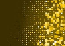 Предпосылка полутонового изображения сделанная квадратов золота Стоковые Фото