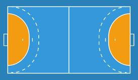 Предпосылка поля гандбола вектор экрана иллюстрации 10 eps Стоковое Фото