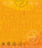 предпосылка помечает буквами желтый цвет Стоковое Изображение