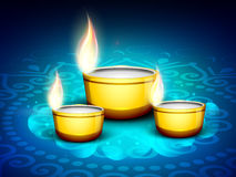 Предпосылка празднества Diwali. Стоковое Изображение
