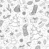 Предпосылка праздника безшовная с символом рождества Стоковые Фото