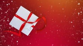Предпосылка праздника рождества и Нового Года Поздравительная открытка Xmas зима снежка положения праздников мальчика стоковое изображение