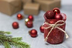 Предпосылка праздника рождества и Нового Года стоковое изображение
