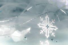 Предпосылка праздника снежинки Стоковые Изображения RF