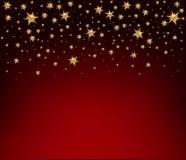 Предпосылка праздника с золотыми звездами рождество украшает идеи украшения свежие домашние к Vect Стоковые Фото