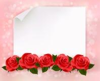 Предпосылка праздника с листом бумаги   Стоковое Изображение RF