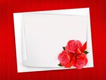 Предпосылка праздника с листом бумаги   Стоковое Изображение