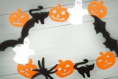 Предпосылка праздника хеллоуина сделанная рамки Стоковая Фотография