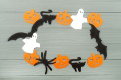 Предпосылка праздника хеллоуина сделанная рамки Стоковые Фотографии RF