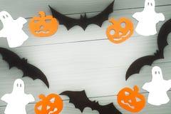 Предпосылка праздника хеллоуина сделанная рамки Стоковое фото RF