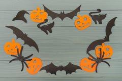 Предпосылка праздника хеллоуина сделанная рамки Стоковое Изображение