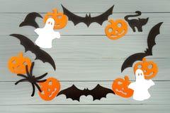 Предпосылка праздника хеллоуина сделанная рамки Стоковые Изображения RF