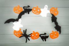 Предпосылка праздника хеллоуина сделанная рамки Стоковая Фотография RF