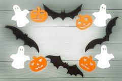 Предпосылка праздника хеллоуина сделанная рамки Стоковое Изображение RF