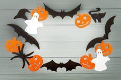Предпосылка праздника хеллоуина сделанная рамки Стоковые Фото