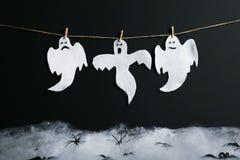 предпосылка празднует праздник halloween привидений Стоковые Фото