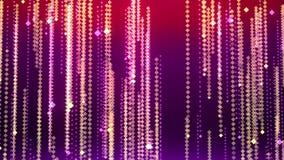 Предпосылка предпосылки bokeh красивой площади абстрактная с дождем анимации падая блестящим праздничным Анимация безшовной петли иллюстрация штока