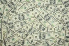 предпосылка представляет счет доллар 100 одно мы Стоковые Изображения RF
