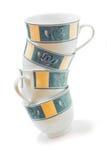 предпосылка придает форму чашки белизна Стоковая Фотография