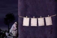 Предпосылка примечания Halloween пустая Стоковые Фото