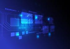 Предпосылка принципиальной схемы цифровой технологии Стоковые Фотографии RF