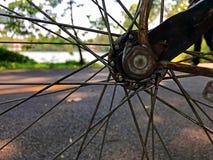 Предпосылка природы нерезкости через колесо Стоковые Изображения