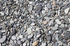 Предпосылка природы от серых камешков моря Стоковое Фото