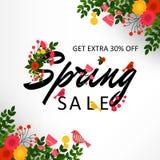 предпосылка продажи весны Стоковые Изображения