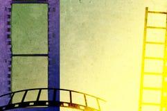 Предпосылка прокладки фильма Grunge иллюстрация вектора