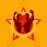 Предпосылка пропаганды эмблемы революции людей и женщин бесплатная иллюстрация