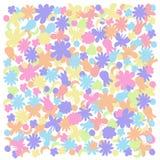 Предпосылка простого света стиля лета просвечивающая с бабочками и цветками иллюстрация вектора