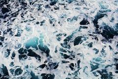 Предпосылка пузырей волн голубая, естественная предпосылка Стоковое фото RF