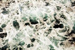 Предпосылка пузырей волн зеленая, естественная предпосылка Стоковые Изображения