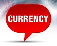 Предпосылка пузыря валюты красная иллюстрация штока