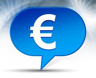 Предпосылка пузыря значка знака евро голубая иллюстрация штока