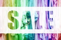 Предпосылка радуги с одеждами Стоковое фото RF