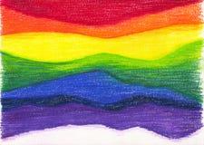 Предпосылка радуги стоковая фотография