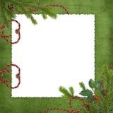предпосылка разветвляет зеленый цвет карточки Стоковое Изображение RF