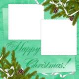 предпосылка разветвляет зеленый цвет рамки Стоковое Изображение