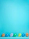 предпосылка раздувает голубой покрашенный рядок Стоковые Изображения RF