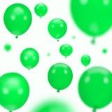 предпосылка раздувает Зеленая партия Стоковое Изображение