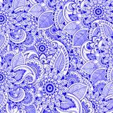 Предпосылка раздумья Zentangle флористическая мир вектора искусства светлый Азиатские восточные поводы Ткань, печать бесплатная иллюстрация
