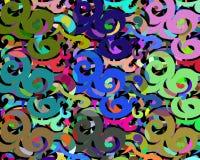 Предпосылка различных картин и цветов Стоковое Фото