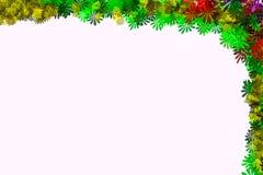 Предпосылка рамки границы дизайна иллюстрации цветка Стоковая Фотография RF