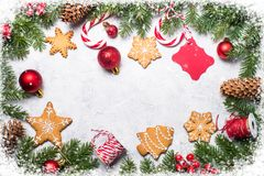 Предпосылка рамки рождества Стоковое Фото