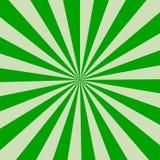 Предпосылка ретро лучей зеленая ретро тип Стоковая Фотография RF
