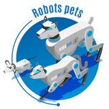 Предпосылка роботов животных равновеликая иллюстрация штока